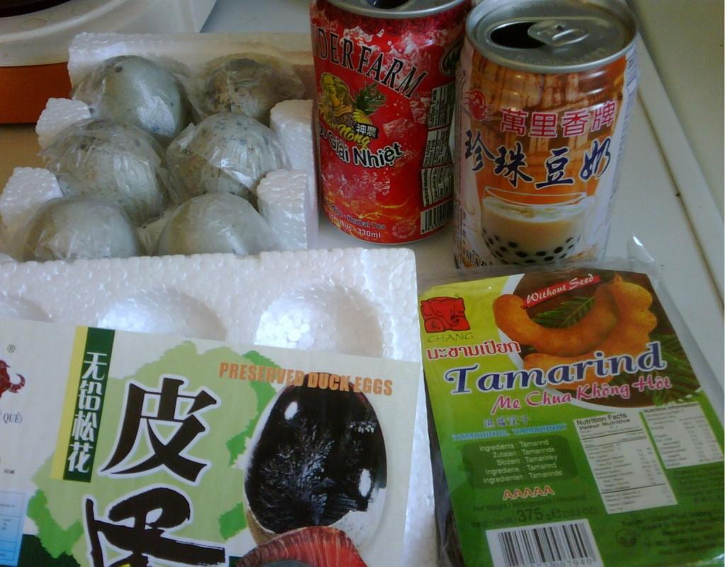Száznapos tojás, teák, Tamarind