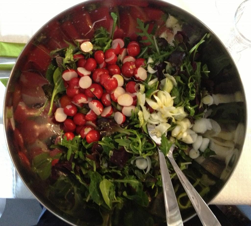 Kollegina által készített saláta.