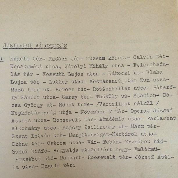 A nagymamám idegenvezetői leírásából, 1958-ból